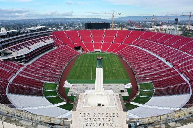Le Los Angeles Memorial Coliseum, le 8 avril.