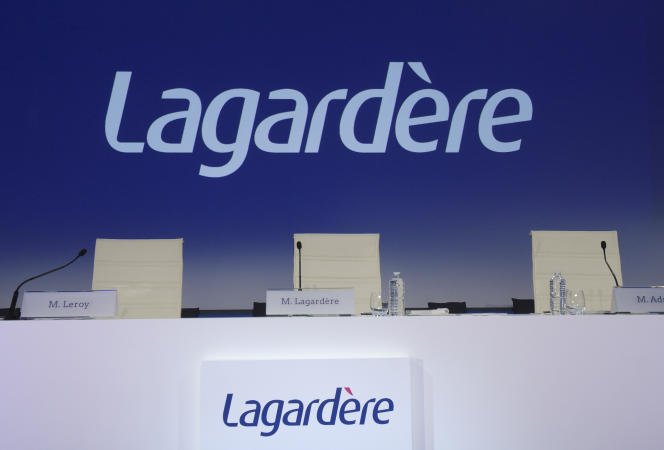 Avant l'assemblée générale du groupe Lagardère, en mai 2018, à Paris.