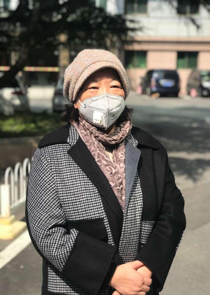 L'écrivaine chinoise Fang Fang, à Wuhan, le 22 février.
