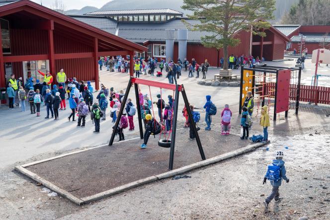 Une école à Trondheim, en Norvège, le 27avril.