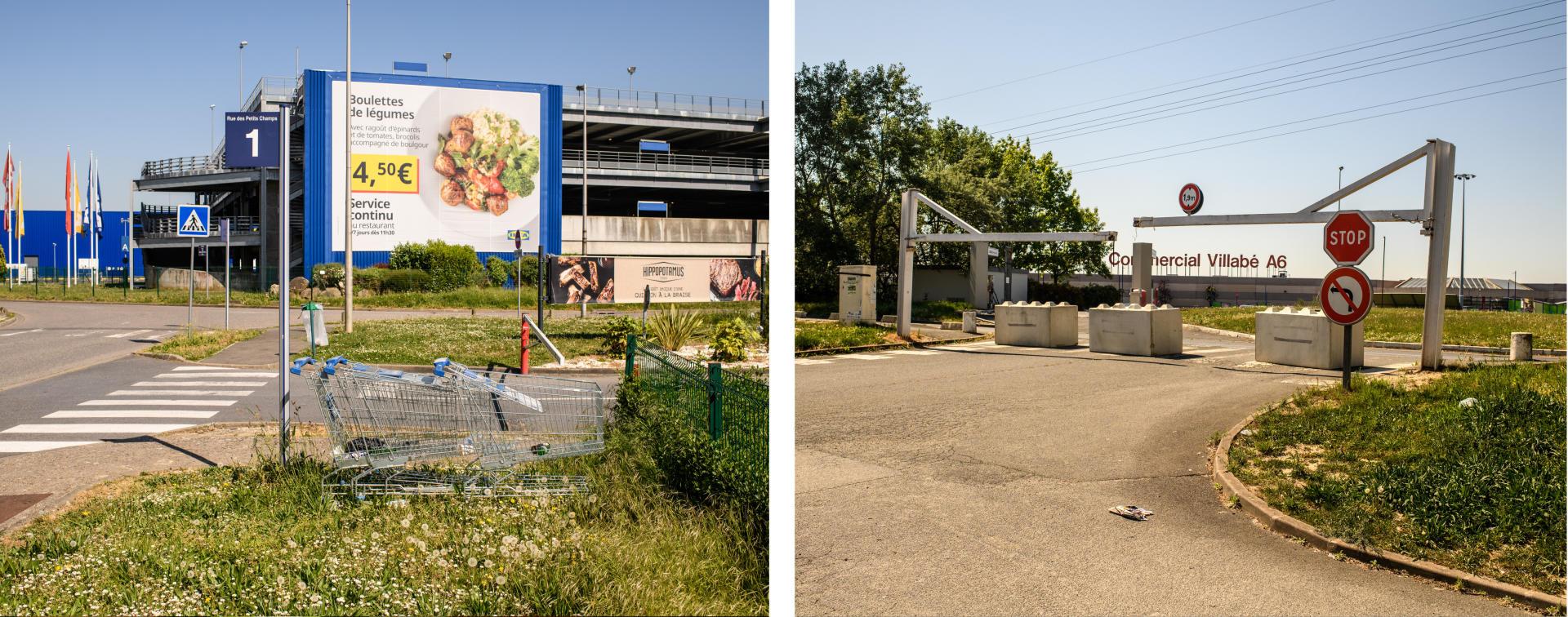 Au bord de l'A6, unmagasin Ikea, d'habitude très fréquenté. Un peu plus loin, la zone commerciale de Villabé.