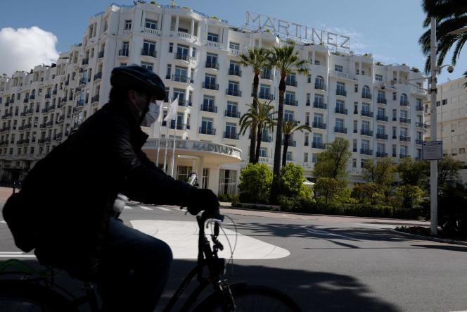 A Cannes (Alpes-Maritimes), le 27 avril 2020.