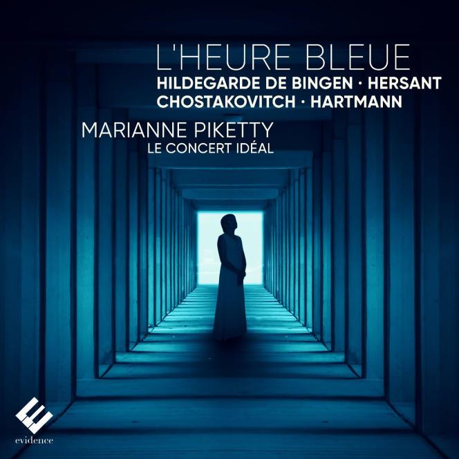 Pochette de l'album« L'Heure bleue», deMarianne Piketty (violon et direction) etLe Concert idéal.