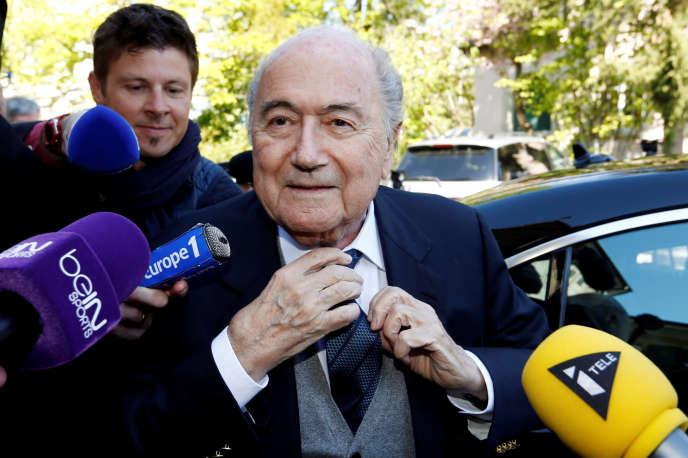 Sepp Blatter, le 29 avril 2016, à Lausanne.
