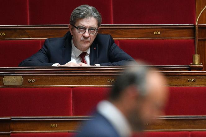 Jean-Luc Mélenchon, à l'Assemblée nationale, le 28 avril.