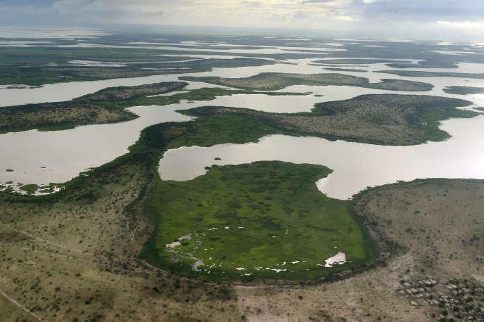 Le lac Tchad à quelque 200 kilomètres au nord-ouest de la capitale, N'Djamena, enjuillet2016.
