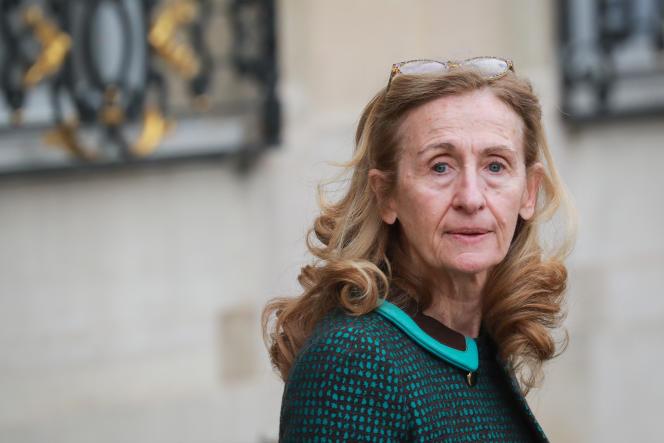 La ministre de la justice, Nicole Belloubet , à l'Elysée, le 4 mars.