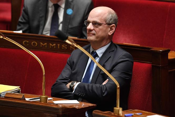 Jean-Michel Blanquer, qui pourrait être candidat pour LRM en Ile-de-France, le 28 avril 2020 à l'Assemblée nationale.