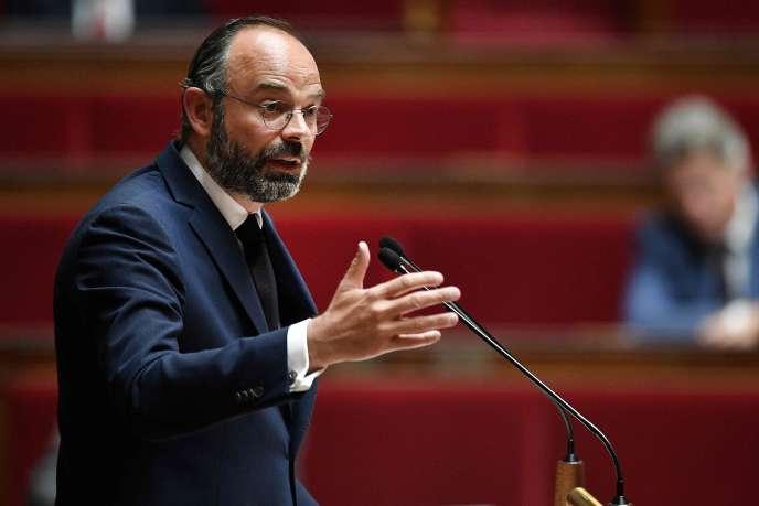 Edouard Philippe lors de son discours consacré au déconfinement à l'Assemblée nationale, le 28 avril.