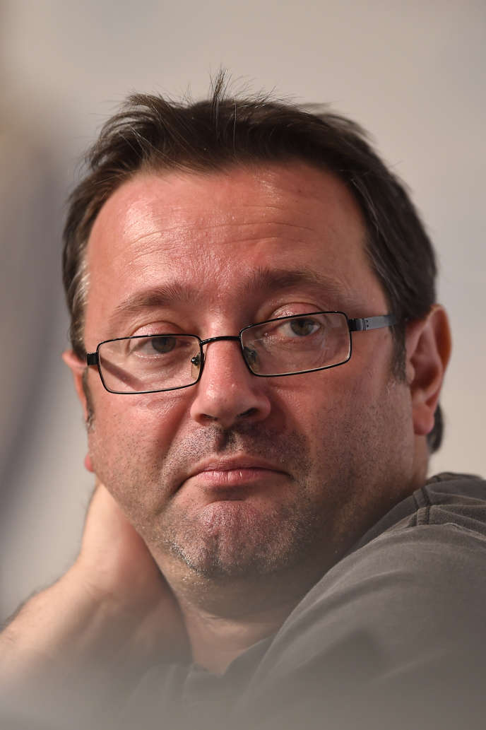 Vincent Maraval,directeur général de la société de production et de distribution Wild Bunch à Cannes, le 21 mai 2015.