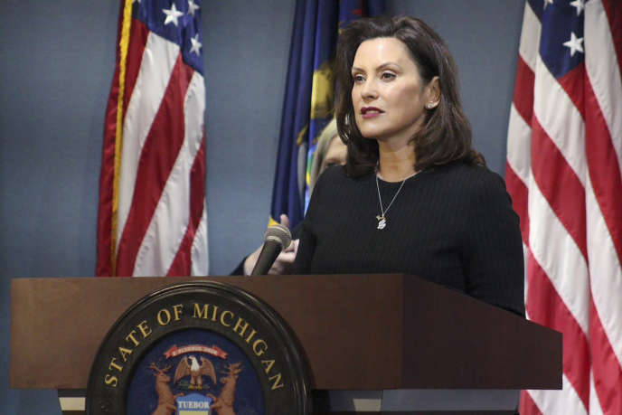 Gretchen Whitmer à Lansing (Michigan), le 29 avril.
