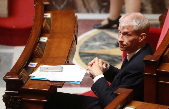 Le ministre de la culture, Franck Riester, le 29avril, à l'Assemblée nationale.