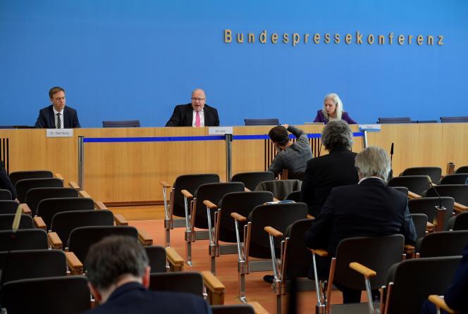 Le ministre de l'économie allemand, Peter Altmaier, à Berlin, le 29 avril.