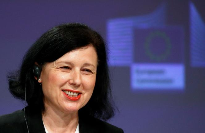 La vice-présidente de la Commission européenne,Vera Jourova, le 29 avril à Bruxelles.