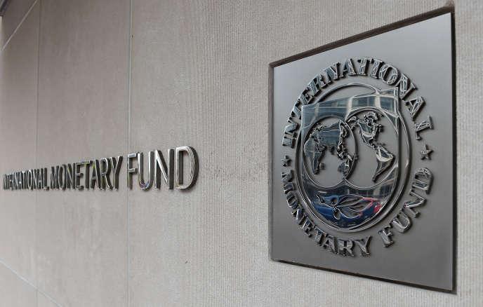 Au siège du Fonds monétaire international (FMI) à Washington, en mars 2020.