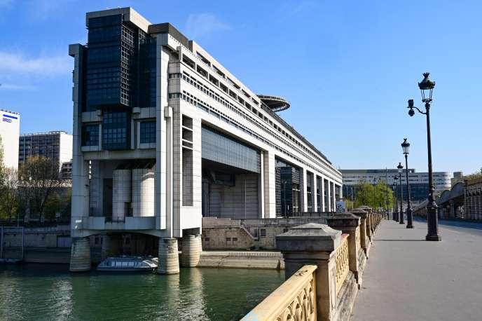 Le ministère de l'économie et des finances, pendant le confinement, à Paris,le 8 avril.