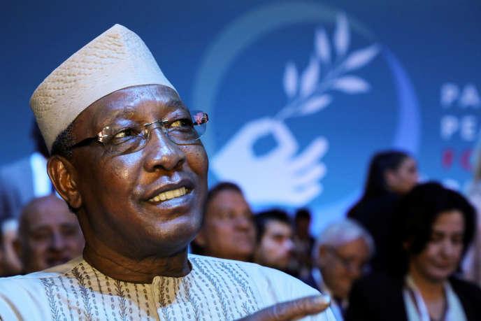Le président tchadien Idriss Déby lors du Forum sur la paix à Paris, le 12 novembre 2019.