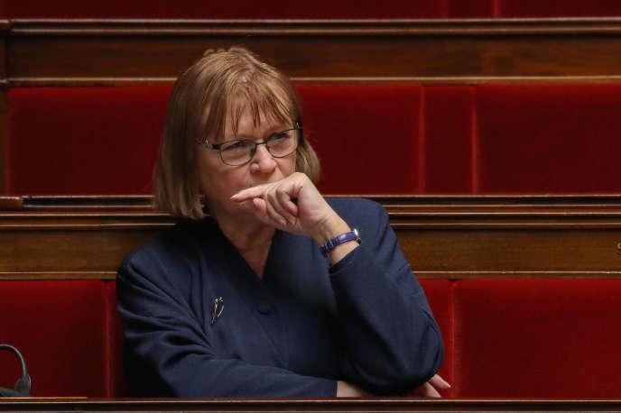 Marie-George Buffet, députée communiste de Seine-Saint-Denis, à l'Assemblée nationale, à Paris, le 14 avril.