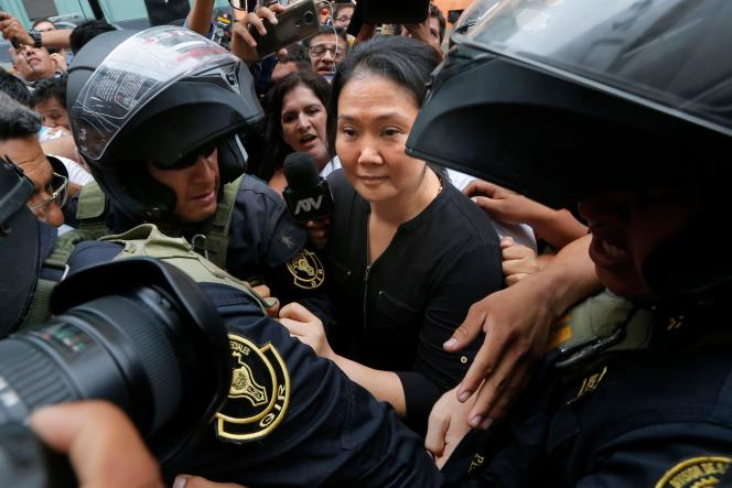 Keiko Fujimori à Lima, le 28janvier.