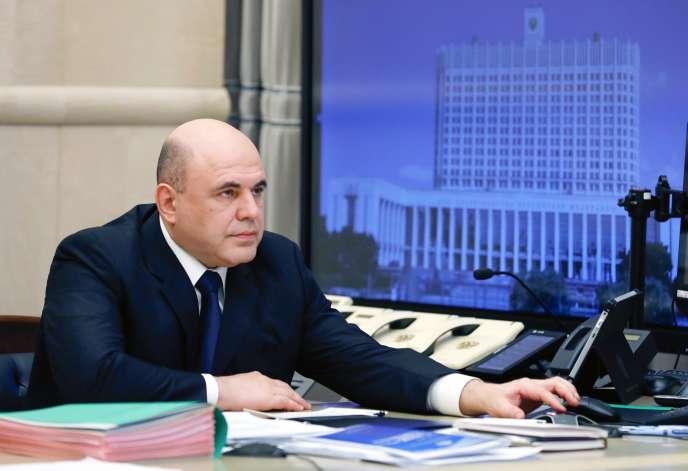 Le premier ministre russe, Mikhaïl Michoustine, à Moscou, le 30 avril 2020.