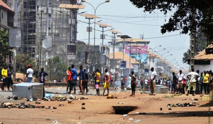 A Conakry, capitale guinéenne, le 21 mars 2020.
