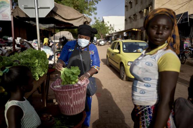 Marché central de Bamako le 26 mars 2020.
