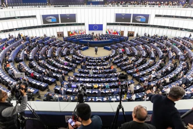 Au Parlement européen, le 12 février à Strasbourg.