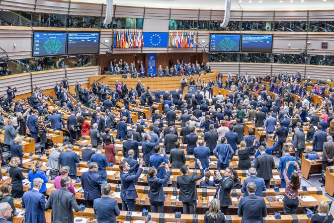 Le Parlement européen à Bruxelles, le 30 janvier 2020.
