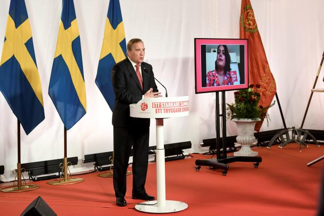 Le premier ministre suédois, Stefan Löfven, à Stockholm, le 1er mai 2020.