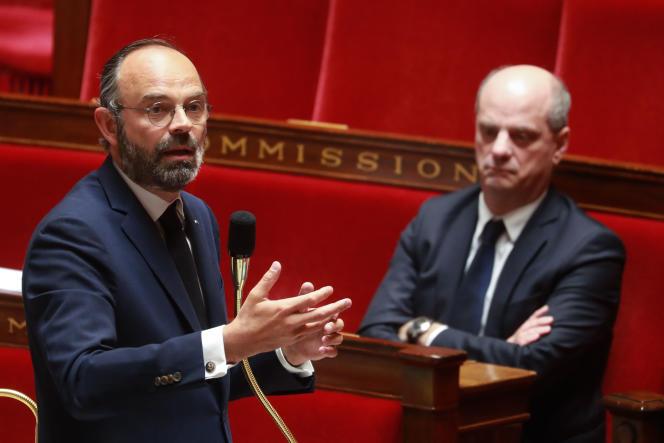 Edouard Philippe présente le projet de loi prolongeant l'état d'urgence sanitaire de deux mois, à l'Assemblée Nationale,le 28 avril.