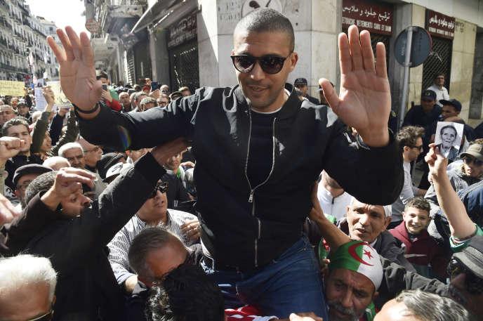 Le journaliste Khaled Drareni à Alger le 6 mars 2020 la veille de son arrestation.