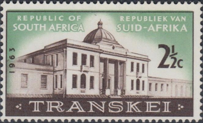 Timbre paru en 1963 en Afrique du Sud pour la première Assemblée nationale du Transkei.