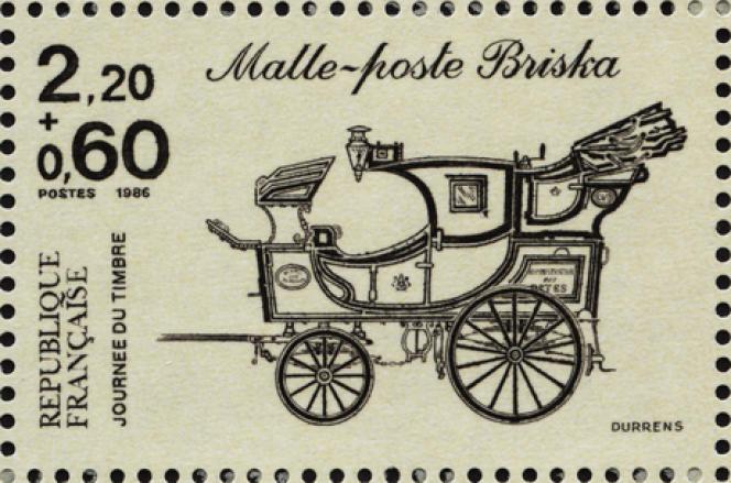 Briska, timbre de 1986 dessiné et gravé par Claude Durrens.