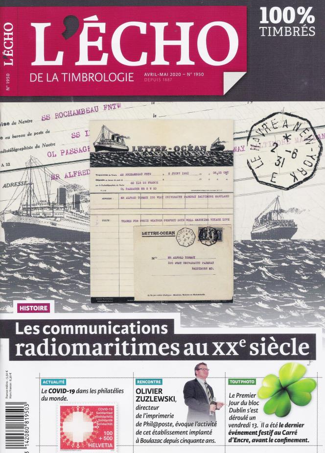 « L'Echo de la timbrologie », avril-mai 2020, 92 pages, 5,50 euros. En vente par correspondance ou par abonnement auprès de l'éditeur, Yvert et Tellier à Amiens (Somme).