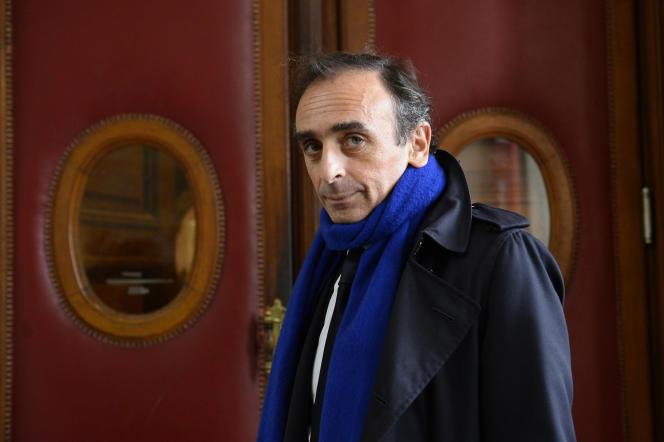 Le polémiste, Eric Zemmour au tribunal correctionnel de Paris, le 6 novembre 2015.