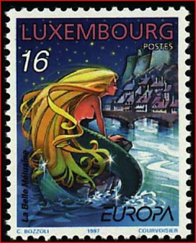 « La Belle Mélusine», timbre paru en 1997.