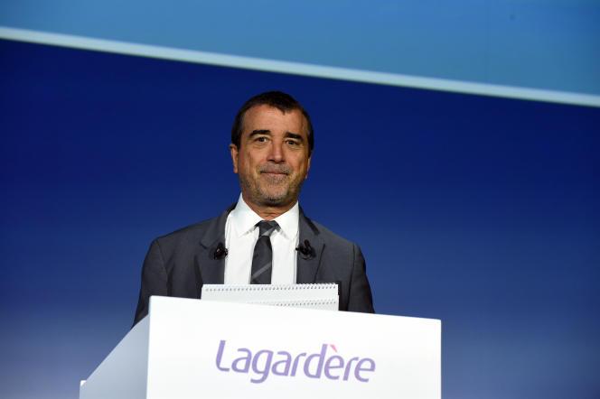 Arnaud Lagardère, patron du groupe de médias du même nom, à Paris, en mai 2019.