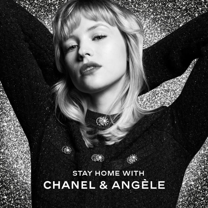 Annonce du concert Stay Home with Chanel et Angèle.