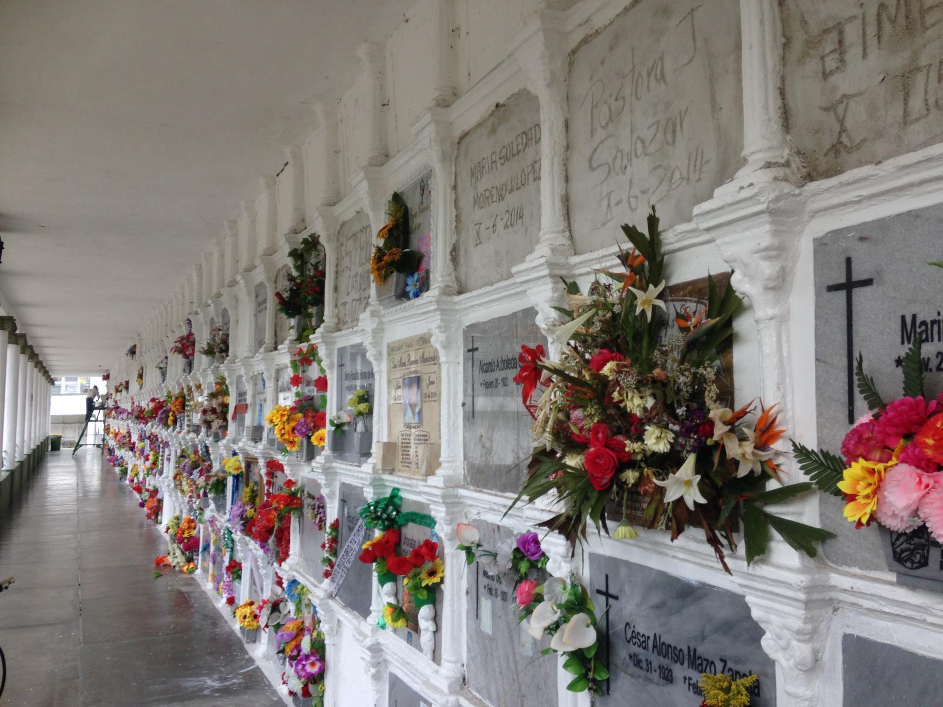 Le cimetière de Medellin.