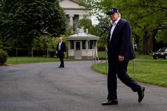Le président des Etats-Unis, Donald Trump, à la Maison Blanche, à Washington, le 3mai.