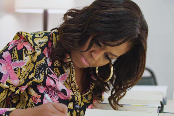 Michelle Obama dans une scène tirée du documentaire «Devenir», sur Netflix.