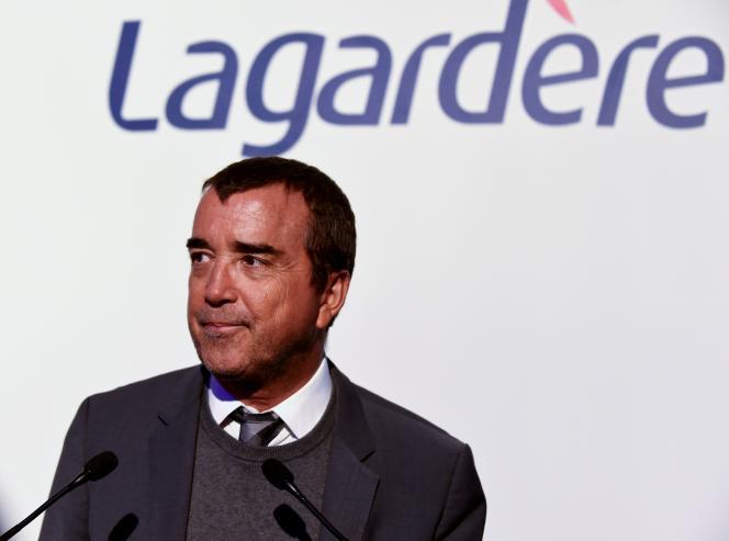 Arnaud Lagardère, en mars 2019, à Paris.