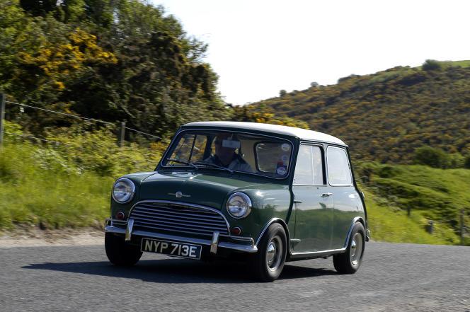 Un modèle Morris Mini Cooper, de 1967.