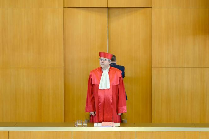 AndreasVosskuhle, président du tribunal constitutionnel fédéral d'Allemagne,à Karlsruhe, le 5 mai.