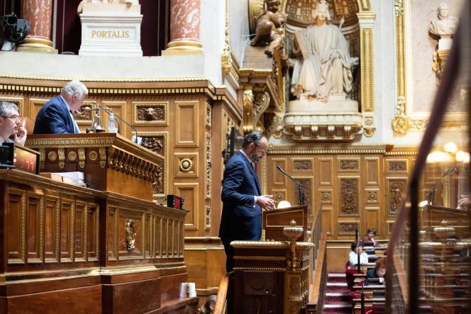 Edouard Philippe à la tribune du Sénat, le 4 mai