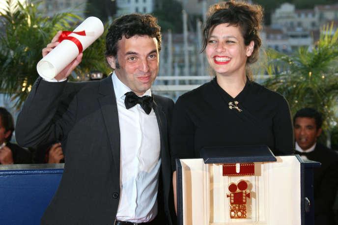 Etgar Keret et Shira Geffen en mai2007 au Festival de Cannes, récompensés par la Caméra d'or pour leur film «Les Méduses».
