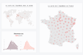 En cartes et en graphiques : visualisez l'évolution de l'épidémie en France et dans le monde