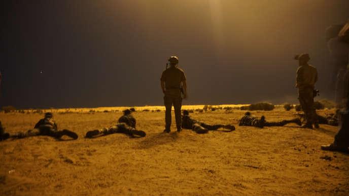 Des instructeurs de l'armée américaine avec des soldats nigériens près de Diffa, enmars 2017.