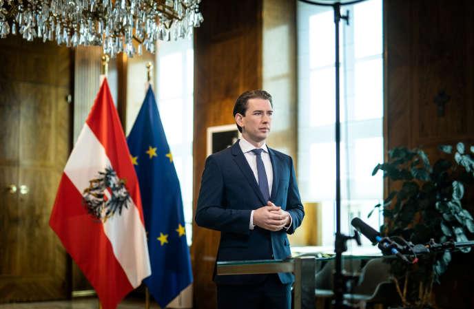 Le chancelier autrichien Sebastian Kurz à Vienne, le 27 avril.