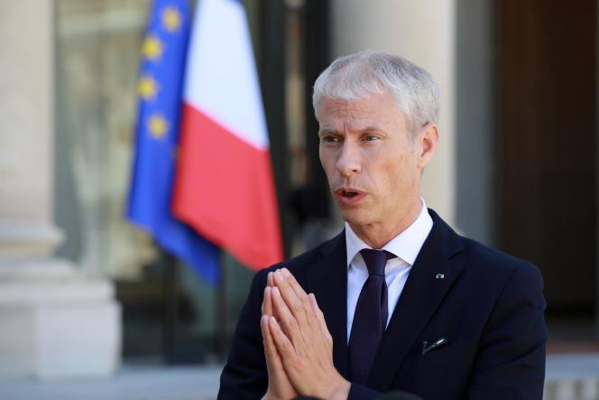 Le ministre de la culture Franck Riester à l'Elysée, le 6 mai.